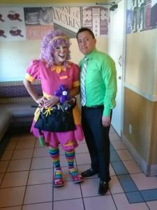 bibbi the clown at Ihop Riverside